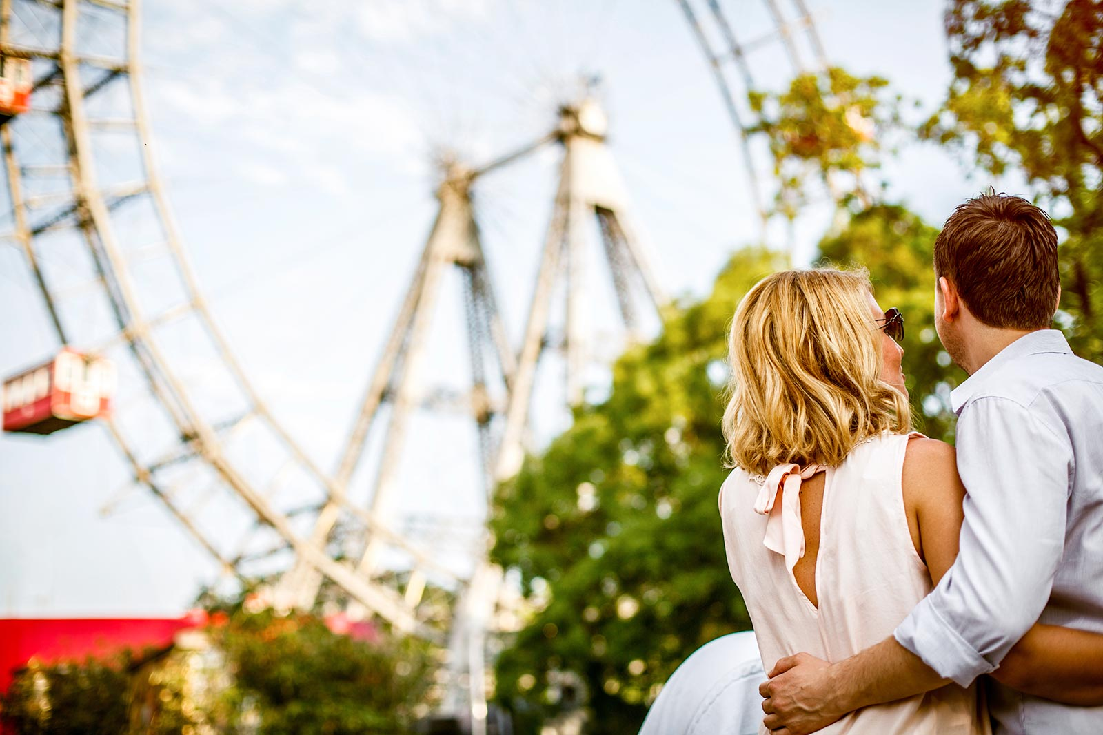 Couple at Ferris Wheel